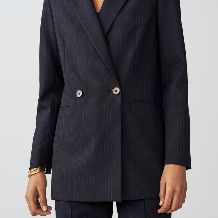 Blazer à rayures tennis : Vestes couleur Rayure