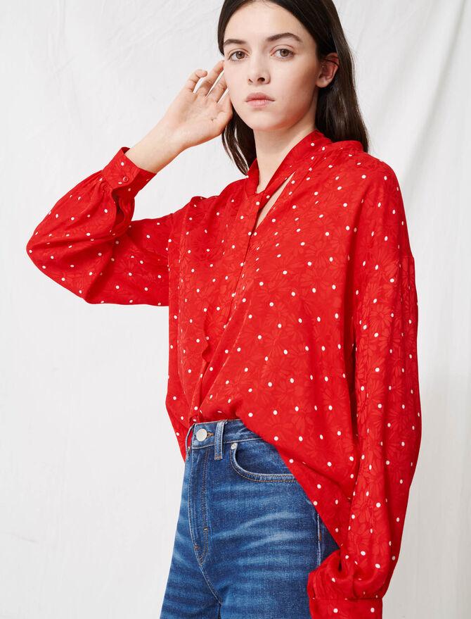 Floaty oversized polka dot blouse -  - MAJE
