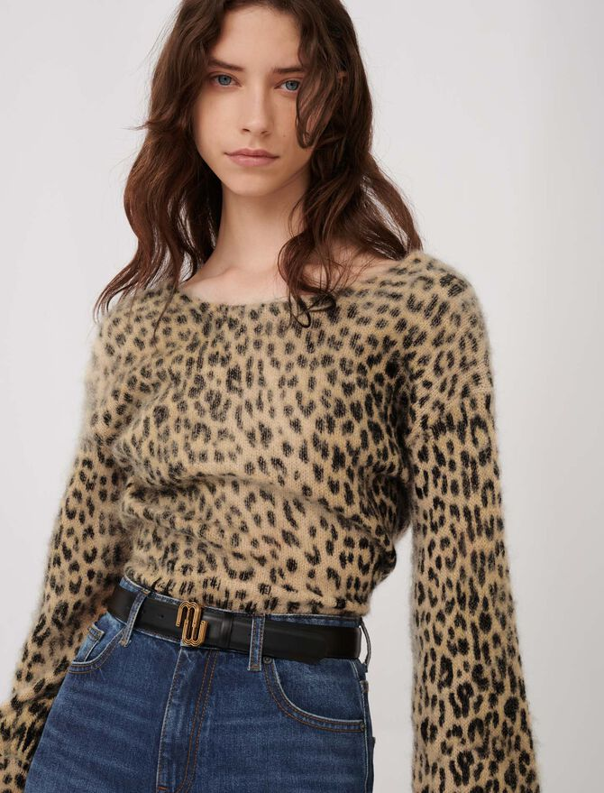 Mohair animal print sweater - Pullovers & Cardigans - MAJE