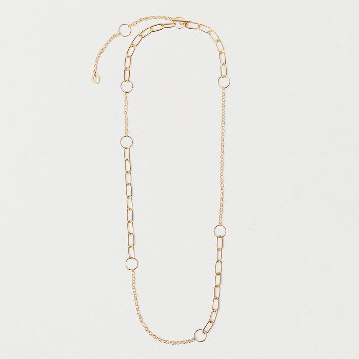 Collier chaîne en laiton : Bijoux couleur OR
