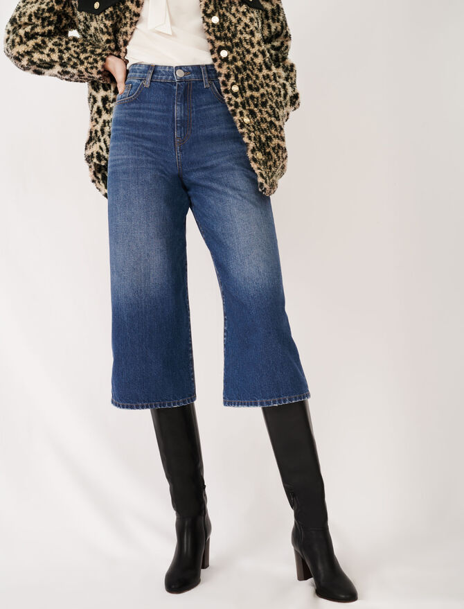 Eco-wash denim Bermuda-style jeans - Trousers & Jeans - MAJE