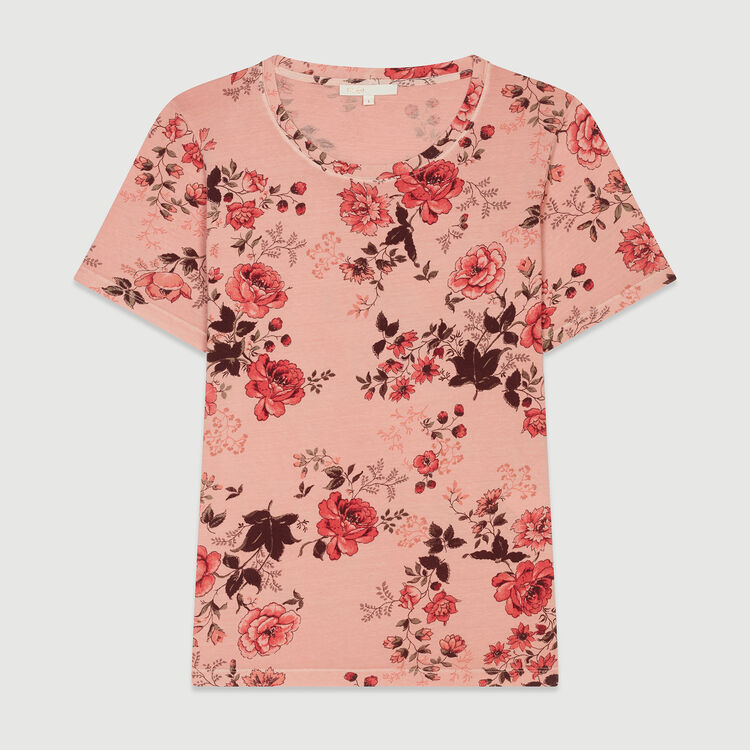 Floral print T-shirt : T-Shirts color Printed