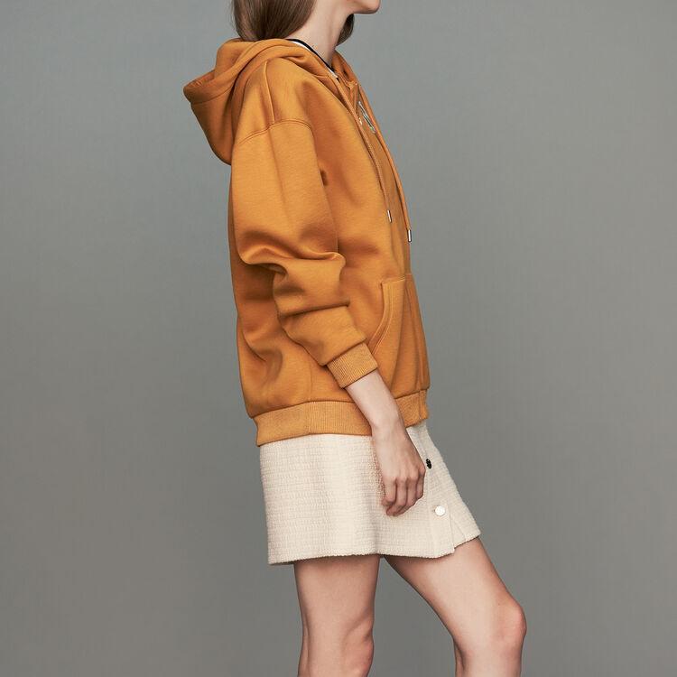 Sweat-shirt zippé à capuche : Sweats couleur Camel