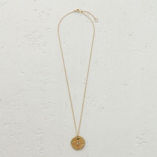 Collier Scorpion signe du zodiaque : Médailles couleur OR