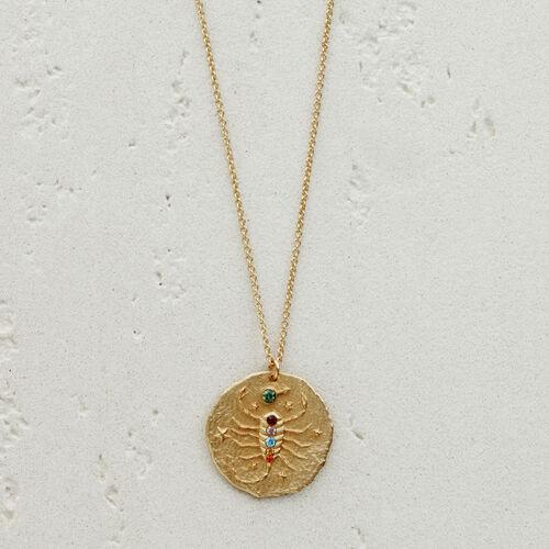 Scorpio zodiac sign necklace : See all color GOLD