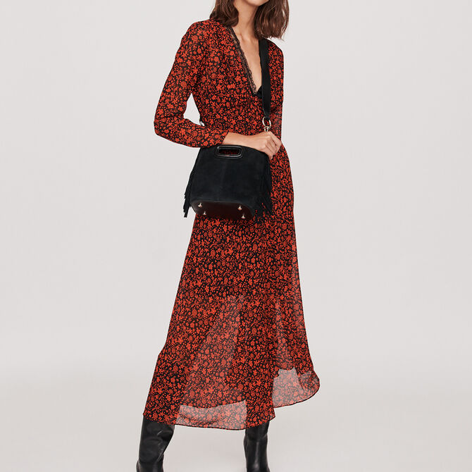 Printed-muslin scarf dress - See all - MAJE