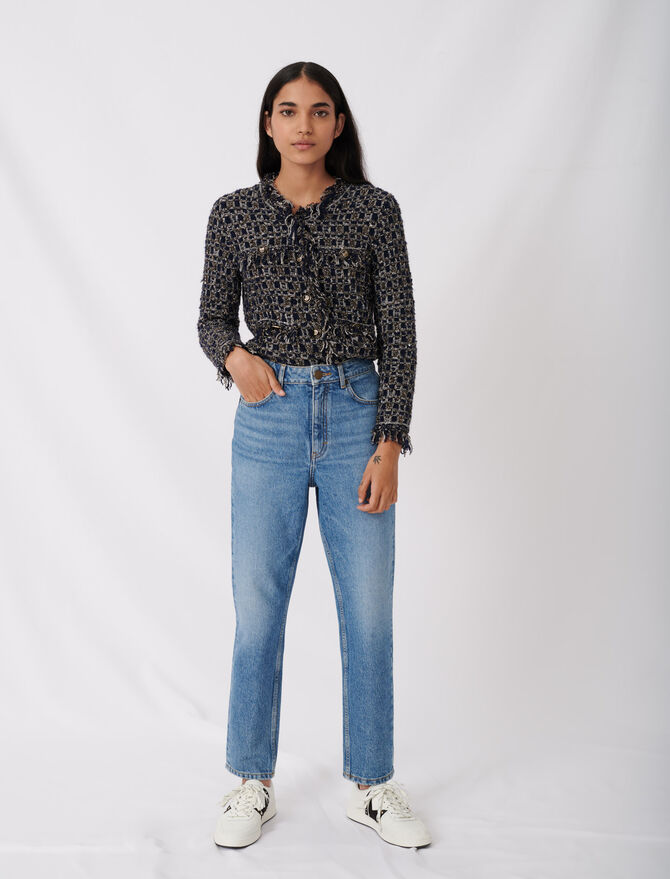 High-waisted jeans - First stone selection - MAJE