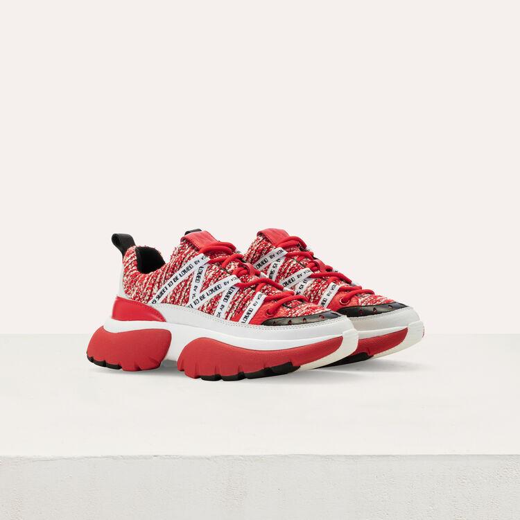 Sneakers W20 urbaines en tweed : Sneakers couleur Rouge