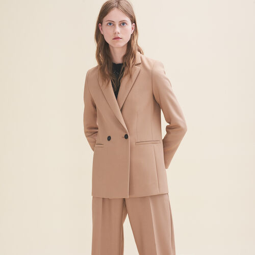 Mid-length tailored jacket : Jackets & Blazers color Camel