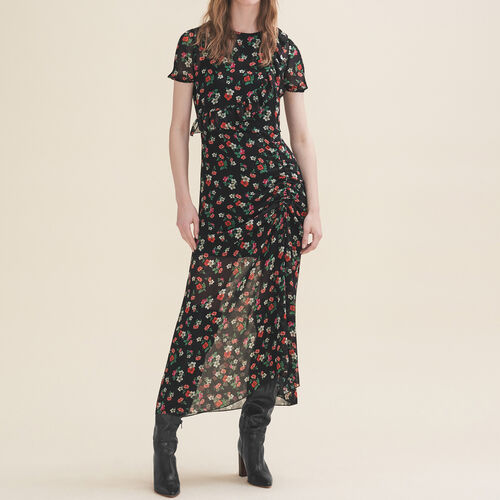 Long printed dress : Dresses color Print