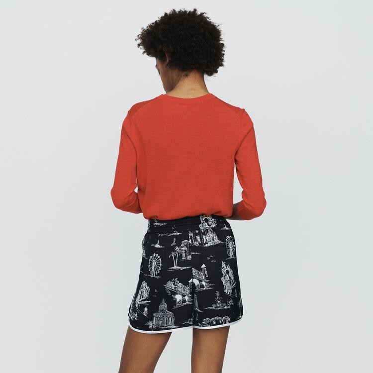 Short à impriméParis : Jupes & Shorts couleur BLACK