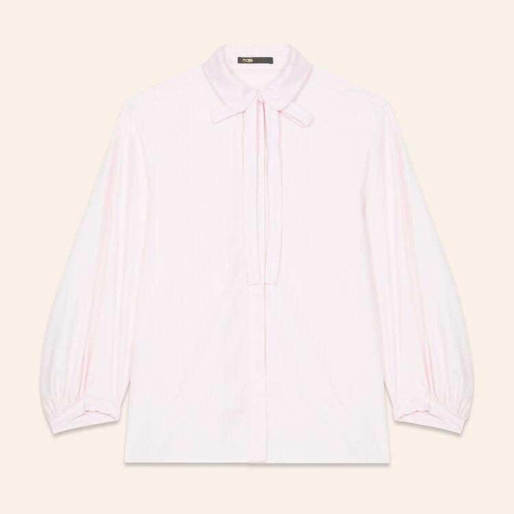 Chemise large en popeline : Tops couleur Rose