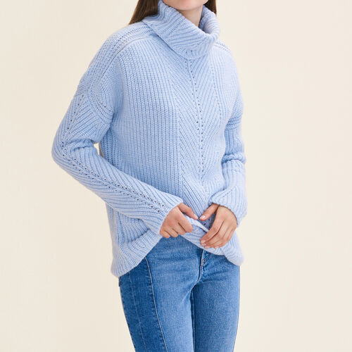 Oversized roll-neck jumper - Knitwear - MAJE
