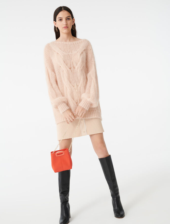 Cable knit sweater -  - MAJE