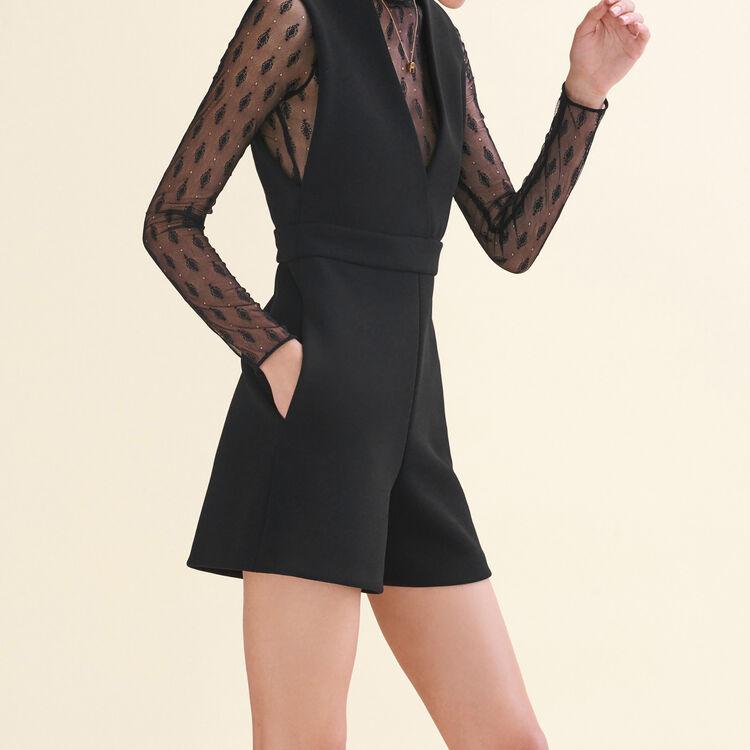 Combi-short bimatière : Jupes & Shorts couleur Black