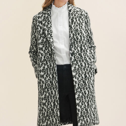 Leopard-print frock coat : Coats color Print