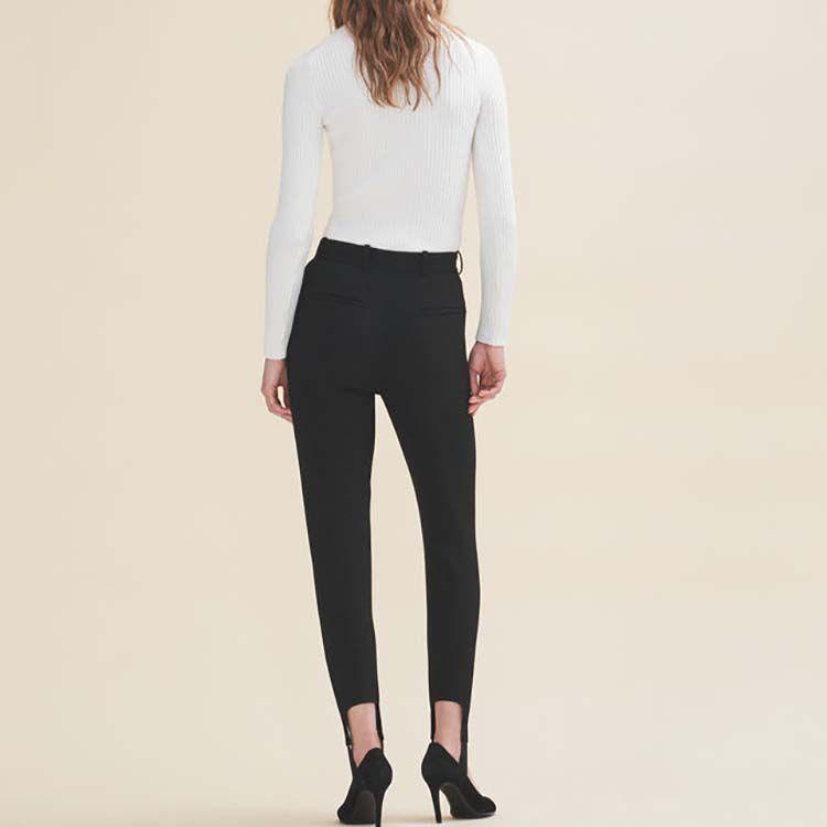 Pantalon fuseau en crêpe : Pantalons & Jeans couleur Black
