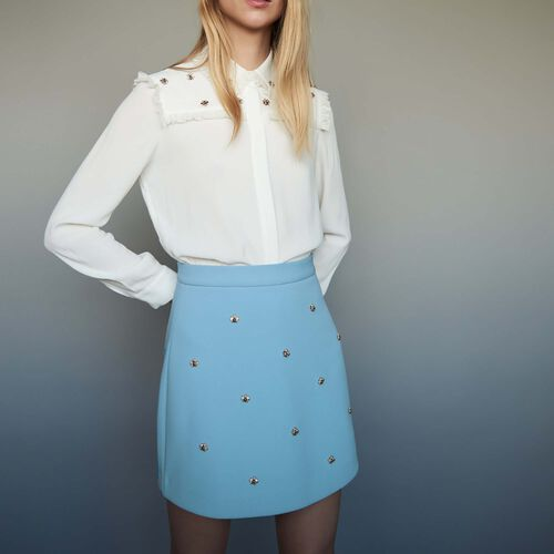 Skirt with embroidered bees - Pre-collection - MAJE