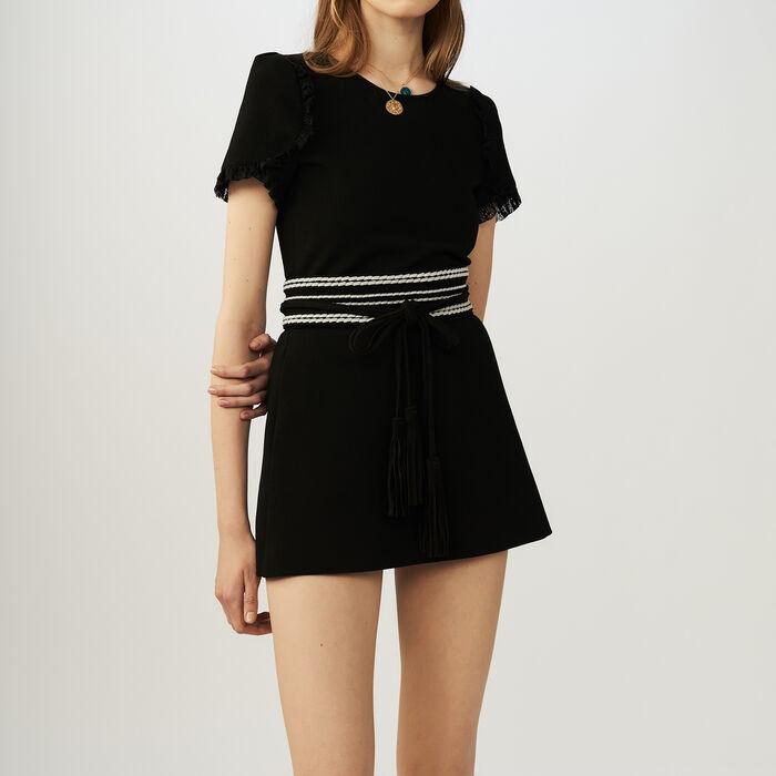 Combi-short en jersey : Jupes & Shorts couleur Black