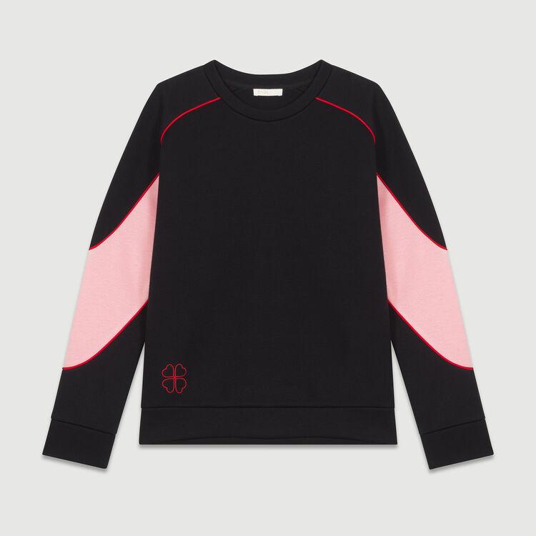 Sweat-shirt avec détails colorés : Maille couleur Black