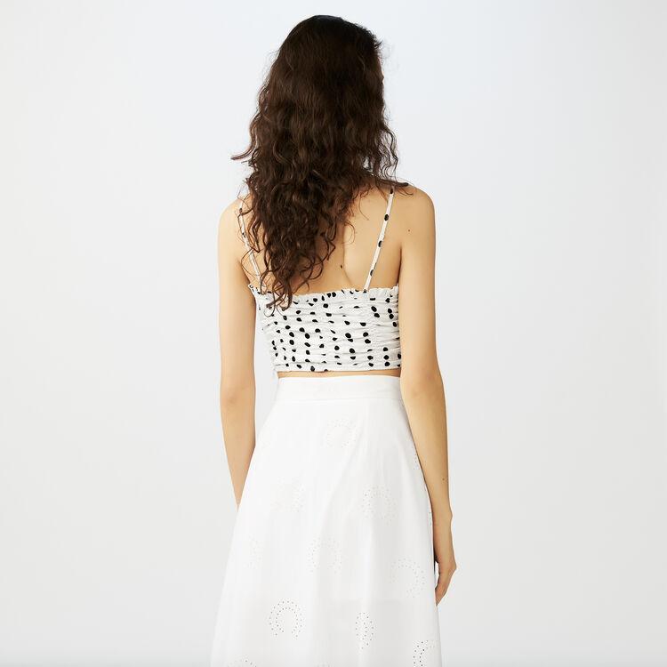 Top court à fines bretelles : Tops couleur Blanc