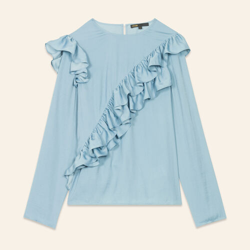 Frilled top : Tops color Blue