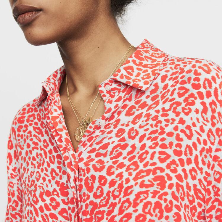 Chemisier à imprimé léopard : Chemises couleur IMPRIME