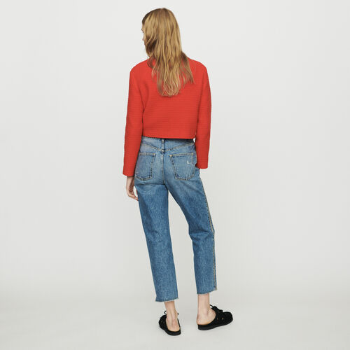 Jean avec zip : New in : Collection Été couleur Denim