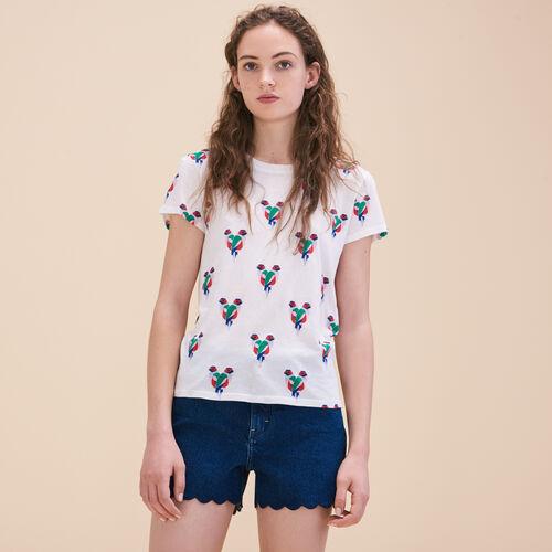 Tee-shirt imprimé perroquets - Hauts - MAJE