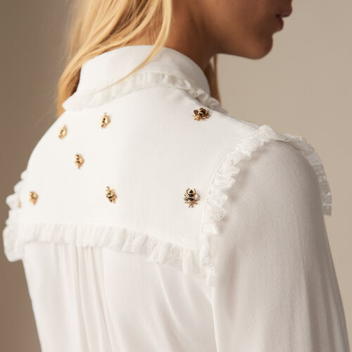 Shirt with embroidered bees - Pre-collection - MAJE