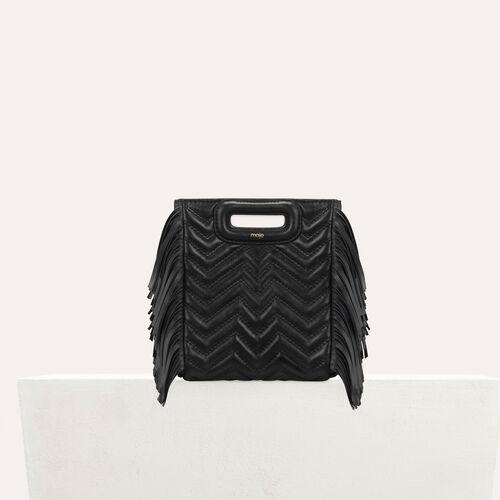Sac M Mini en cuir matelassé : M Mini couleur Black
