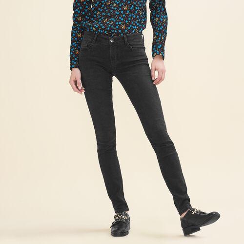 Stretch cotton skinny jeans - Jeans - MAJE
