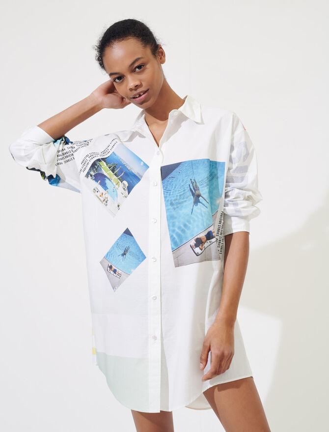 Chemise oversize en coton imprimé - Tops & Chemises - MAJE
