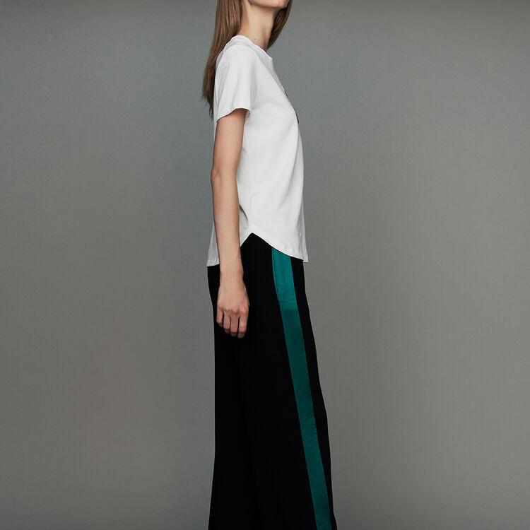Pantalon large bicolore : Nouvelle Collection couleur Black