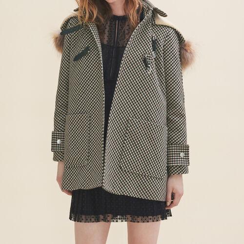 Manteau à carreaux : Manteaux & Blousons couleur Jacquard