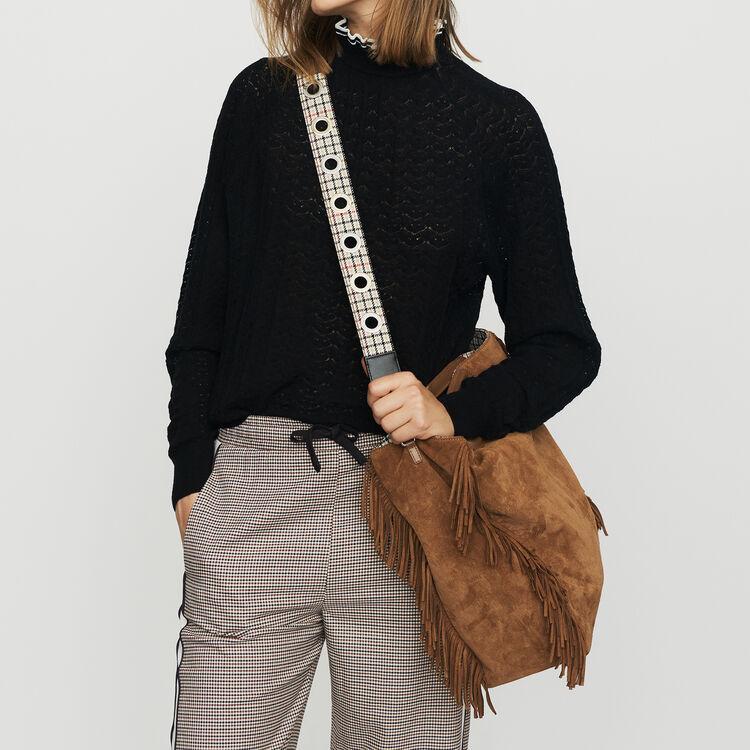 Pantalon élastiqué à carreaux : Pantalons couleur CARREAUX