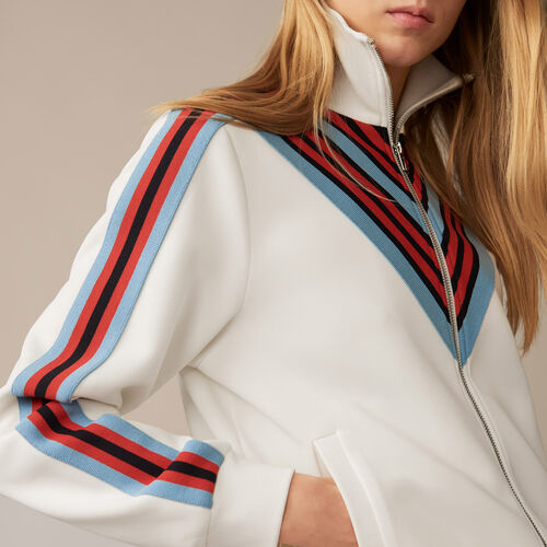 Track jacket : Knitwear color WHITE