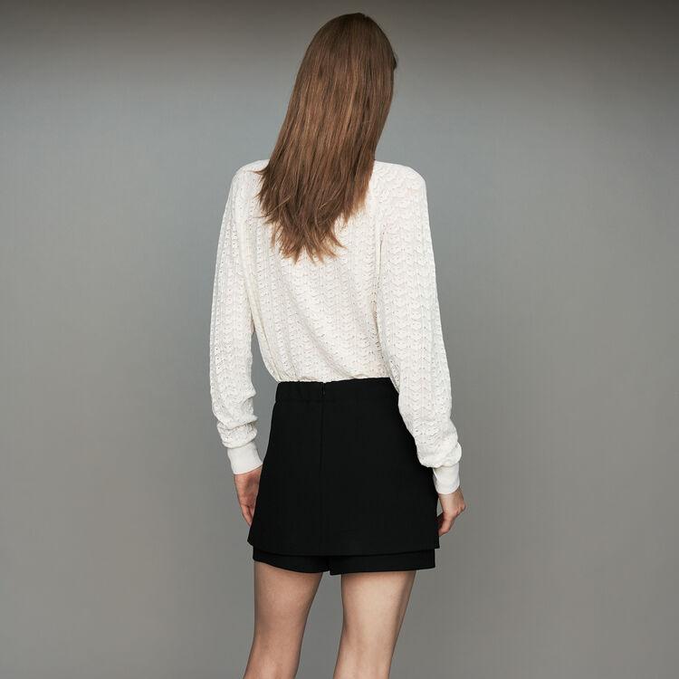 Short-jupe en crêpe : Nouvelle Collection couleur Black