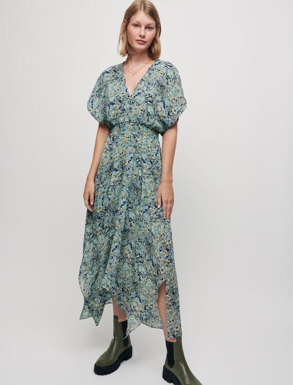 Robe foulard en mousseline imprimée - Robes - MAJE