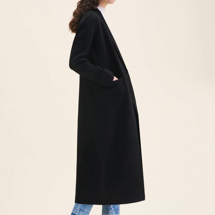 Manteau long en laine double face : LAST CHANCE couleur Black