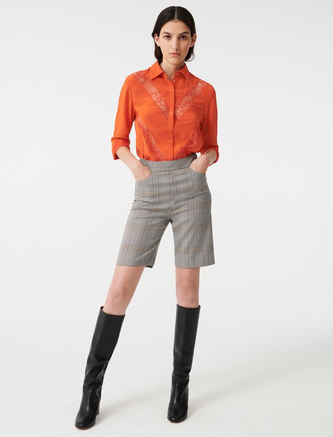 Shirt with lace inserts - Tops & Shirts - MAJE