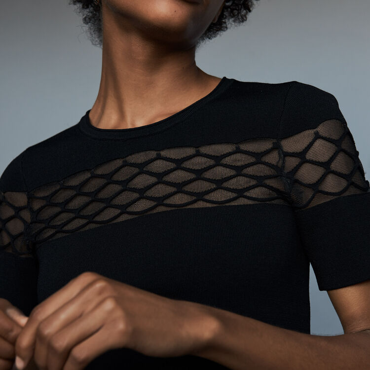 Top en maille Stretch : Nouvelle Collection couleur Black