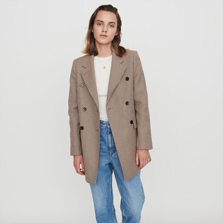 Manteau façon veste à carreaux : Manteaux & Blousons couleur Camel