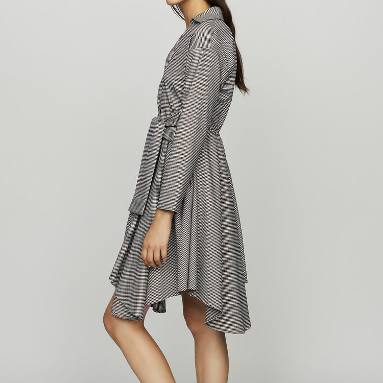 Robe-chemise à imprimé pied-de-coq : Robes couleur CARREAUX