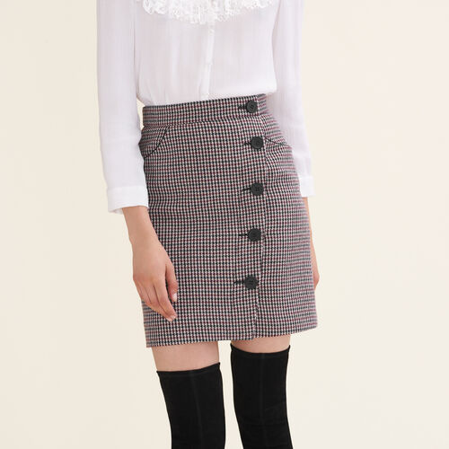 Houndstooth check short skirt : Skirts & Shorts color Jacquard