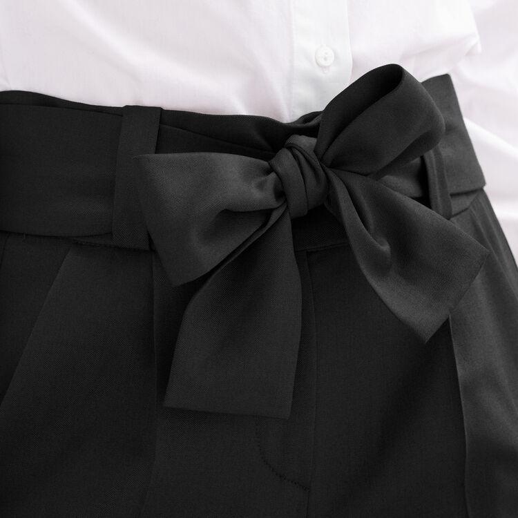 Pantalon carotte avec nœud : Tout voir couleur Black