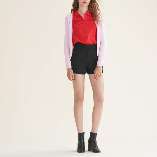 Cardigan avec zip côtés : Pulls & Cardigans couleur Black