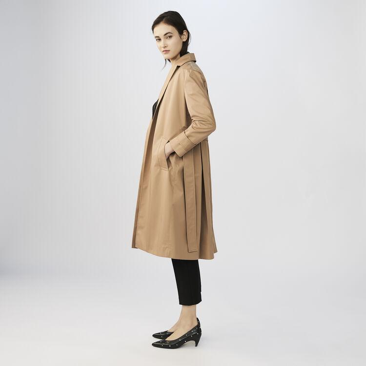 Trench en toile de coton : Manteaux couleur BEIGE SABLE