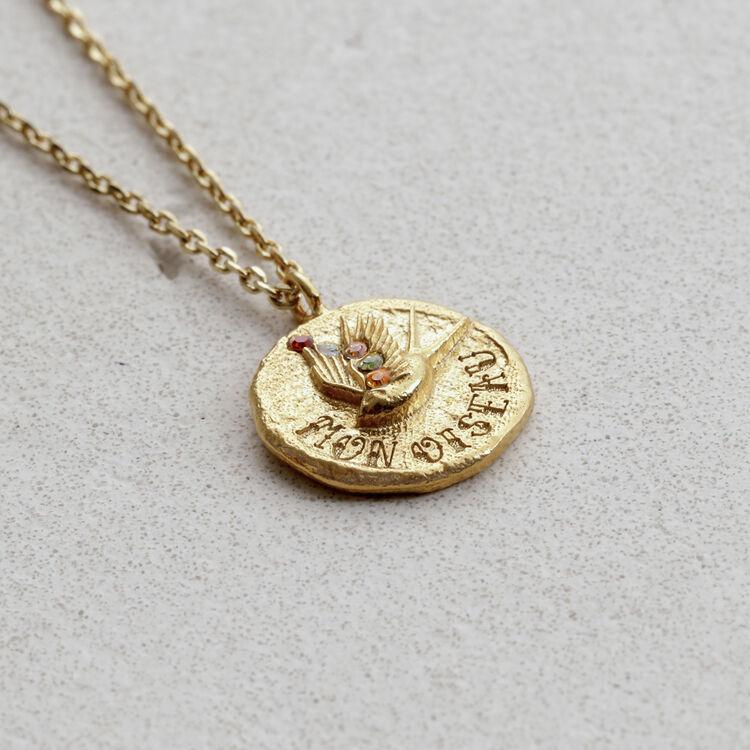 """Collier """"Mon oiseau"""" en plaqué or : Bijoux couleur OR"""