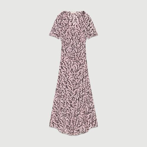 Robe longue en soie imprimée : Robes couleur IMPRIME